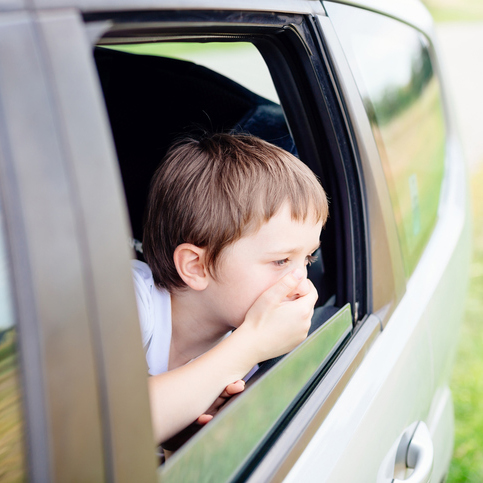 Child suffers from motion sickness in car - Alzein Pediatrics